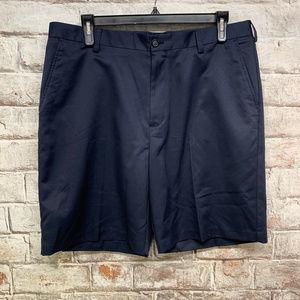Izod Golf Mens Shorts Size 38x9 Flat Front Blue